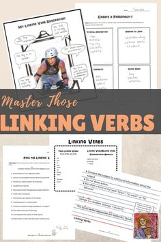Linking verbs can be tricky! Lots of practice pages and easy to follow tips for students. Great linking verb grammar resource for upper elementary, grades 4, 5, 6