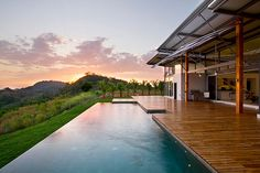 Alluring Interior Layout Presenting Breezy Concept: Astounding Rectangular Shaped Infinity Pool Of Contemporary Casa Mecano Completed With B...