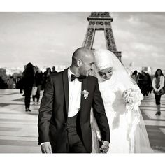 Islam Marriage - They look so beautiful together! Couples Musulmans, Cute Muslim Couples, Romantic Couples, Wedding Tumblr, Wedding Pics, Wedding Styles, Dream Wedding, Paris Wedding, Wedding Reception