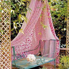 Use fabric to create shade