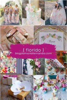 Decoração de Casamento Paleta de Cores Florida Colorida | Inspirations Board Wedding Flowered Colored blogdamariafernanda.com