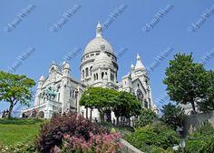Sacre Coeur Sacred Heart Basilica Montmartre Paris by JWPhoto