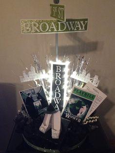 Broadway theme Bridal Shower Centerpiece