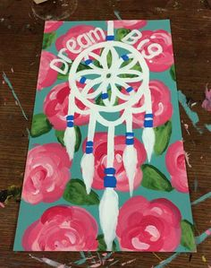 painted a dream catcher over the lily pulitzer pattern :)