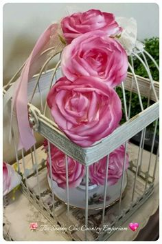 Caged Roses by The Shabby Chic Country Emporium