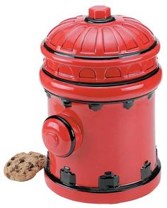 Firefighter Cookie Jar Fire Hydrant