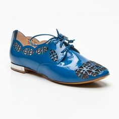 I love these blue shoes!!...would look adorable with jeans!
