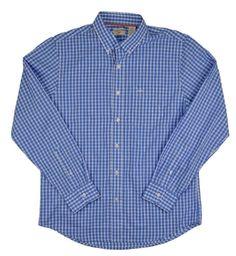 fd14d966cd6a Shirt Large DOCKERS Mens Blue Plaid Long Sleeve Button No Wrinkles Classic