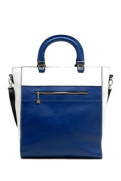 Tosca Handbags Square Colorblock Satchel