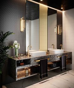 This collection is inspired by the Art Deco classics of the and it provides the specifier with a powerful and distinct look. Rustic Bathroom Designs, Rustic Bathroom Decor, Bathroom Design Luxury, Rustic Bathrooms, Dream Bathrooms, Chic Bathrooms, Dream Home Design, Home Room Design, Home Interior Design