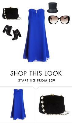 """""""Blue and black (guys it's back)"""" by a-person-on-ployvore ❤ liked on Polyvore featuring Sans Souci, Serpui, Pierre Hardy and Gucci"""