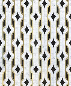 beautiful tiles - patterns accentuated by gold outlines - dundass-grande_image Floor Patterns, Tile Patterns, Textures Patterns, Print Patterns, Floor Design, Tile Design, Pattern Design, Design Studio, Art Deco Design