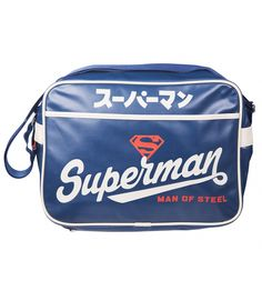 It's a super manbag! In an awesome vintage Japanese style, this official DC Comics #messenger bag is a real STEEL! xoxo #Superman #Superhero #bag #messenger #retro