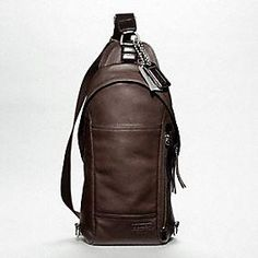 Coach :: Thompson Leather Convertible Sling Pack