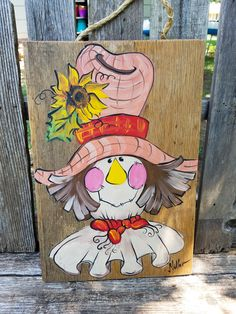 Scarecrow Fall reclaimed wood art Scarecrow on reclaimed wood, Fall, Autumn decoration Stillwater OK artist Bill Miller of Miller's Art by MillersArt on Etsy Vintage Halloween, Fall Halloween, Vintage Witch, Halloween Stuff, Halloween Makeup, Halloween Party, Fall Canvas Painting, Pallet Painting, Canvas Paintings