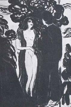 Edvard Munch, Jealousy II, detail, 1896