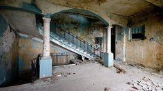 Staircase of abandoned hotel Skala, current Abkhazia