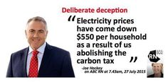 If Joe Hockey wants to keep repeating the lie that we've saved $550 since CP abolition he needs to show PROOF #AusPol