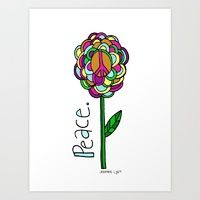 """peace flower"" Cherry Runway | Society6"