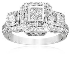 10k White Gold Diamond Engagement Ring (1 cttw, I-J Color, I2-I3 Clarity) - Listing price: $1,699.00 Now: $553.67
