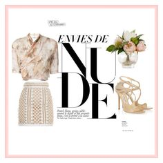 """""""Nude style"""" by vera-brites on Polyvore featuring Balmain, Romeo Gigli and Jimmy Choo"""