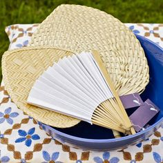 Battle scorching sun, aggressive mosquitoes, and stifling temperatures with a few thoughtful amenities your friends will appreciate. Buy a supply of fans, plus sunblock and bug spray, and have everything at the ready when company comes.  (Paper fans, $5.99 for 12, and raffia fans, $9.99 for 12; orientaltrading.com)   - Delish.com