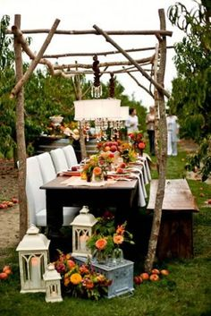 Sweet Berry Farm   Rhode Island Were suckers for a well set table, but this vineyard creation takes the cake. Setting up chandeliers amongst rows of vines. Can you say dream wedding?