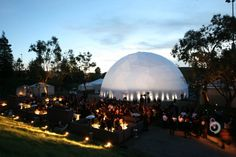 A distant shop of the #Google #Zeitgeist dome by Pacific Domes and Obscura Digital