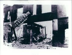 A white mob numbering in the thousands burned Tulsa's thriving African American community to ground on June 1, 1921. Three hundred people were killed, the vast majority of them black. About 10,000 were left homeless. In this image, Greenwood's famous Dreamland Theater lies in ruins.
