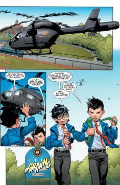 Jon Kent and Damian Wayne Wayne Family, Bat Family, Damian Wayne, Dc Universe, Mundo Superman, Jon Kent, Robin Dc, Dc World, Hq Dc