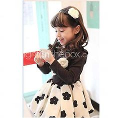 Girl's Fashion Flower Dresses Lovely Princess Fall Dresses - USD $ 13.33