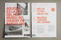 Le design museum de barcelone en trois couleurs