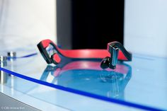 Panasonic bone-conducting headphones take tunes straight to the dome. #CES
