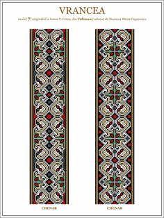 Semne Cusute: model de ie din Vrancea - embroidery patterns for the traditional…