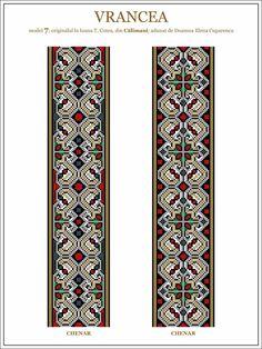 Semne Cusute: model de ie din Vrancea - embroidery patterns for the traditional Romanian costume in Vrancea http://www.pinterest.com/honcerupatricia/romanian-traditional-motifs/