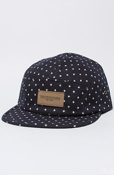 The Auxilary 5 Panel Camp Hat in Navy by Obey