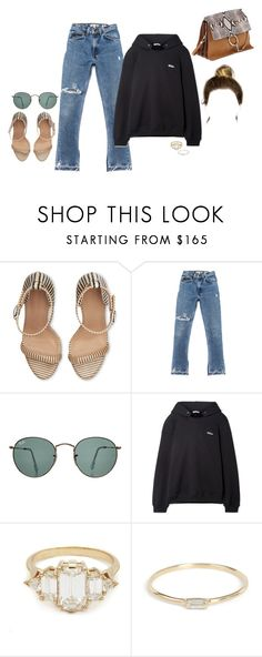 """going on a double date night"" by stylistcookies ❤ liked on Polyvore featuring Ray-Ban, We11Done and Chloé"