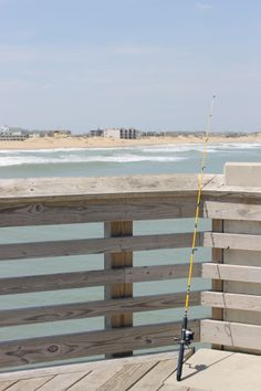 Ready to fish at Jennette's Pier. #obx