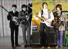"Paul McCartney 5' 11"" (1.80 m)  George Harrison 5' 10½"" (1.79 m)  Faul mide, más…"