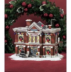 department 56 a christmas story village cleveland elementary school home decor for the - A Christmas Story Village