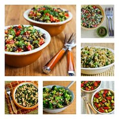 20 Favorite Healthy Salads and Side Dishes for Outdoor Eating; all these are favorites I make every year for summer parties.  [from KalynsKitchen.com]