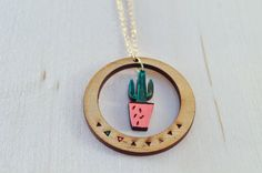 Cactus Wood Necklace