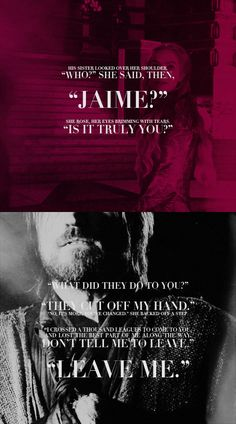 Cersei and Jamie break my heart. BREAK MY HEART.- Storm of Swords
