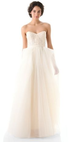 Reem Acra is my new favorite wedding dress designer! Seriously....all amazing. Reem Acra Eternity Strapless Dress