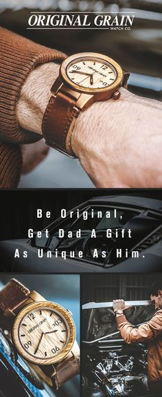 Looking for the perfect gift for Dad? Our Whiskey Watch is made with authentic American Oak from reclaimed Whiskey Barrels. Get him something truly original this year - Free shipping worldwide!