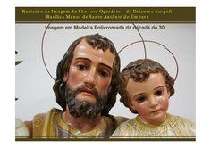 Apresentação restauro imagem São José.  Apresentação das intervenções realizadas na restauração da imagem de São José Operário da Basílica do Embaré.