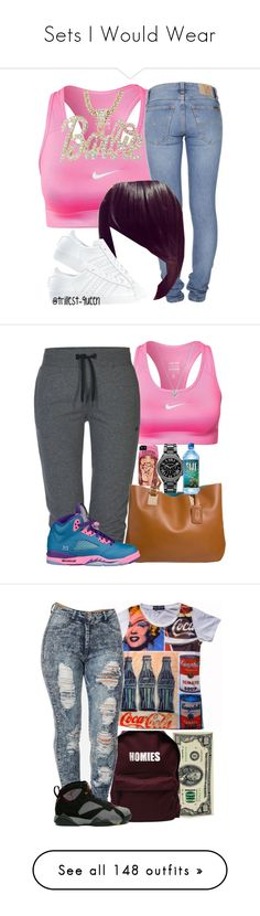 """Sets I Would Wear"" by perfectlyjayx ❤ liked on Polyvore featuring NIKE, Nicki Minaj, Nudie Jeans Co., adidas, ONLY, even&odd, Michael Kors, ASAP, Andy Warhol and Retrò"