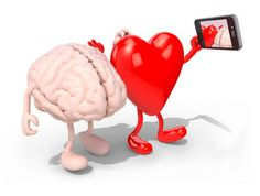 brain and heart take a self portrait with her smart phone
