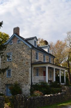 The Rector House on the John Mosby Highway between Middleburg and Upperville in Virginia.