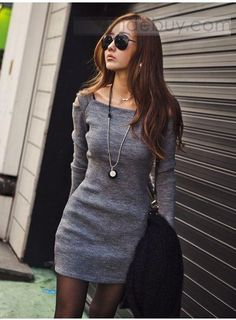 New Style Chic Slim Long Sleeve Dress : Tidebuy.com